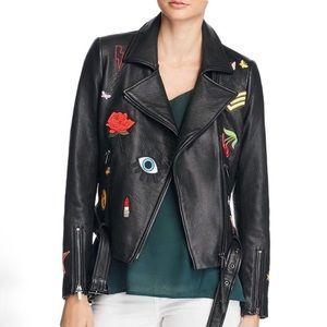 ⚡️MOVING SALE⚡️NWOT Aqua Patch Moto Leather Jacket
